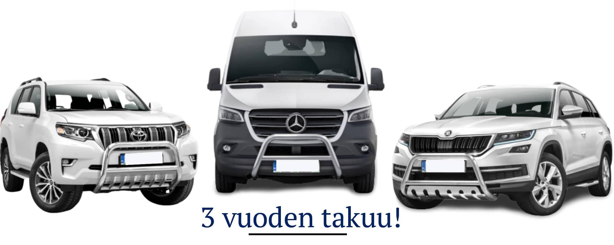 3 vuoden takuu tuotteille - Valoraudat.com verkkokauppa